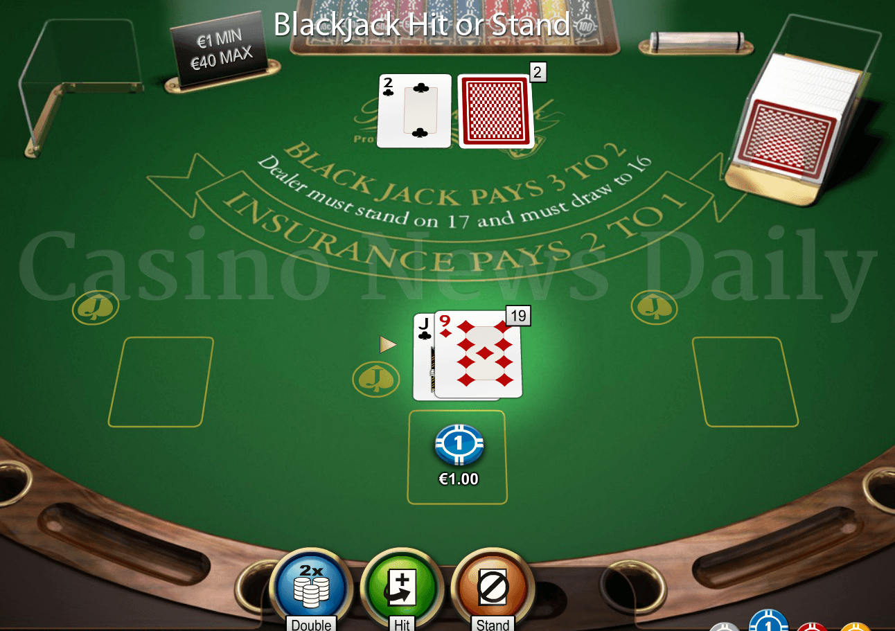 Blackjack hit or stand